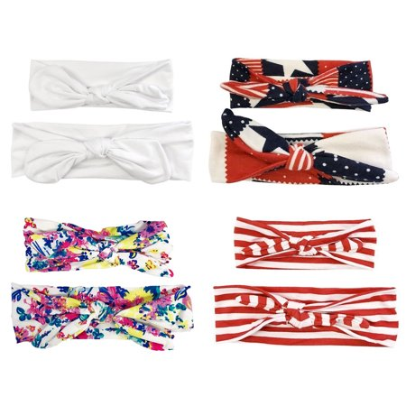 ALLYDREW Mommy & Me Headbands Matching Hair Bands for Mother & Child (set of 4) - Patriotic ()