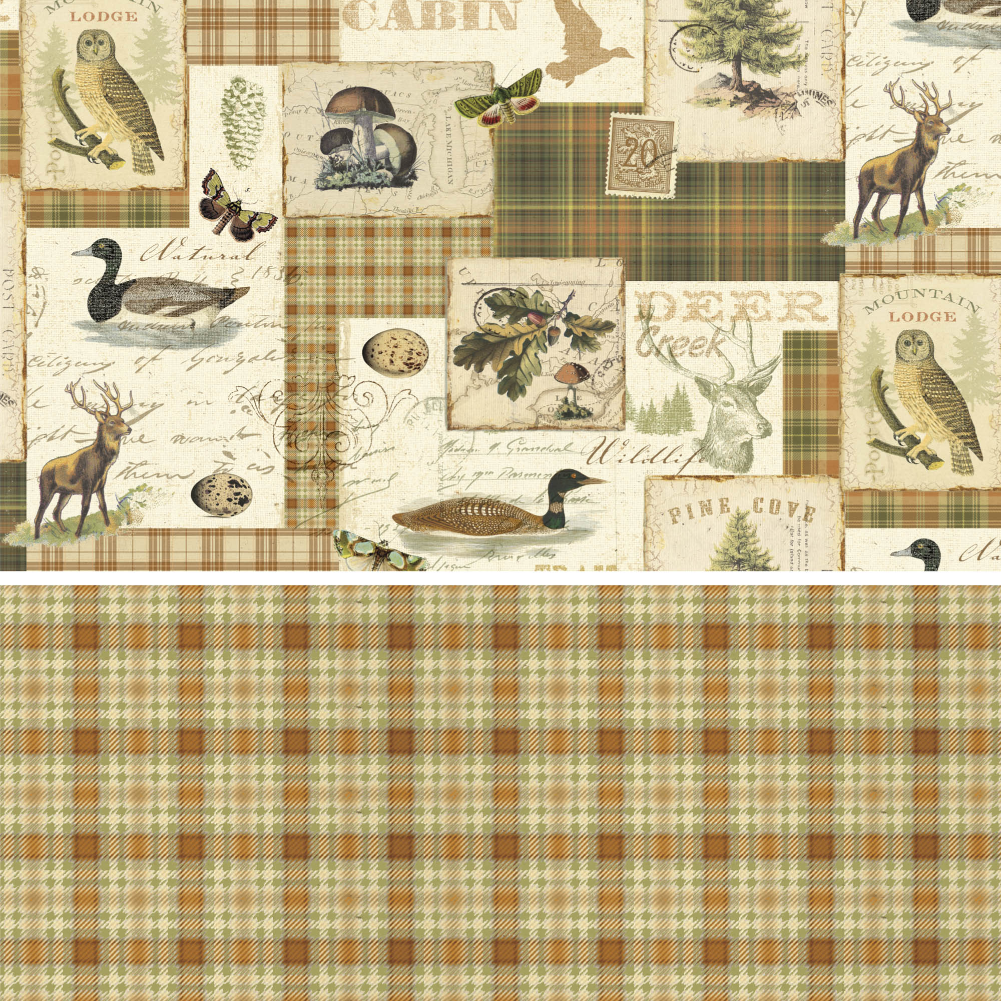 David Textiles Cotton Precut Fabric North Memories Collection 1 Yd X 44 Inches