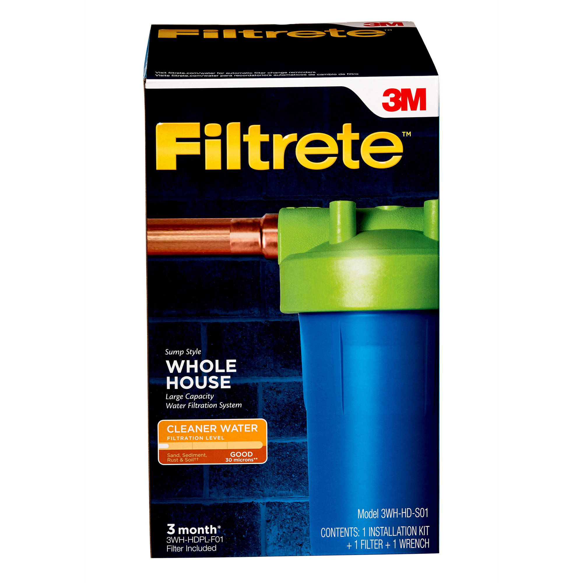 "Filtrete"" Large Capacity Whole House System, Sump Style (sediment)"