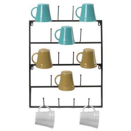Sorbus Mug Rack Cup Holder Wall Mounted Home Storage Hooks With 5 Tier Display Organizer For Coffee Mugs Tea Cups Mason Jarore Holds