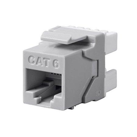 Monoprice Cat6 RJ45 180-Degree Punch Down Keystone Dual IDC, Gray - image 2 de 2