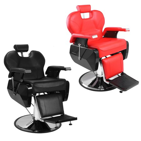 Zimtown 360 Swivel Barber Chair, Portable Reclining Hydraulic Chair Seat Equipment, All Purpose Classic Saloon Shop Station Furniture, for Hair Cutting Styling Hairdressing Shampoo and Salon Beauty