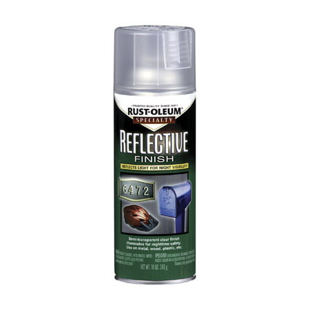 Clear Satin Spray (SPECIALTY 214944 Reflect. Coating Spray Paint, Clear, 10 oz)