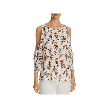 Floral Georgette Blouse - Alison Andrews Womens Floral Print Ruffle Blouse