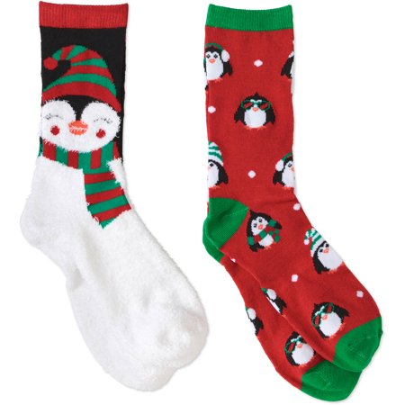 holiday wal mart christmas socks 2 pack walmartcom - Walmart Christmas Socks
