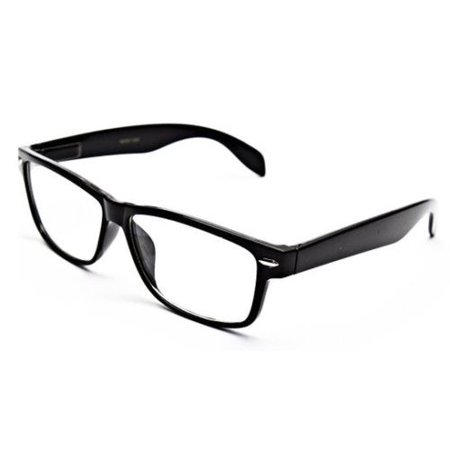 Smart Black Interview Generic nerd Fashion Rectangular Clear Lens Glasses (Where Do You Buy Fake Glasses)