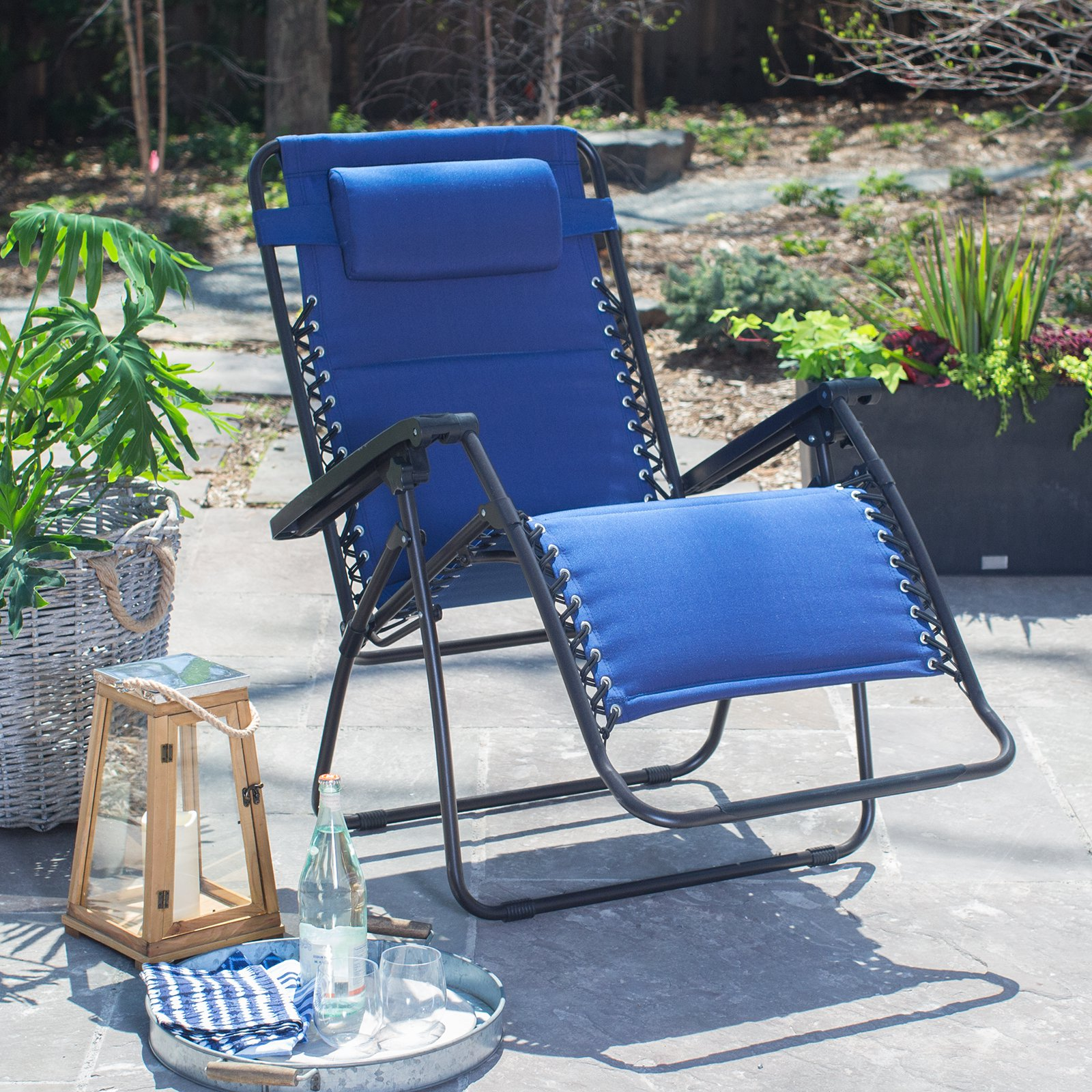 Delicieux Coral Coast Padded Extra Wide Zero Gravity Chair   Walmart.com