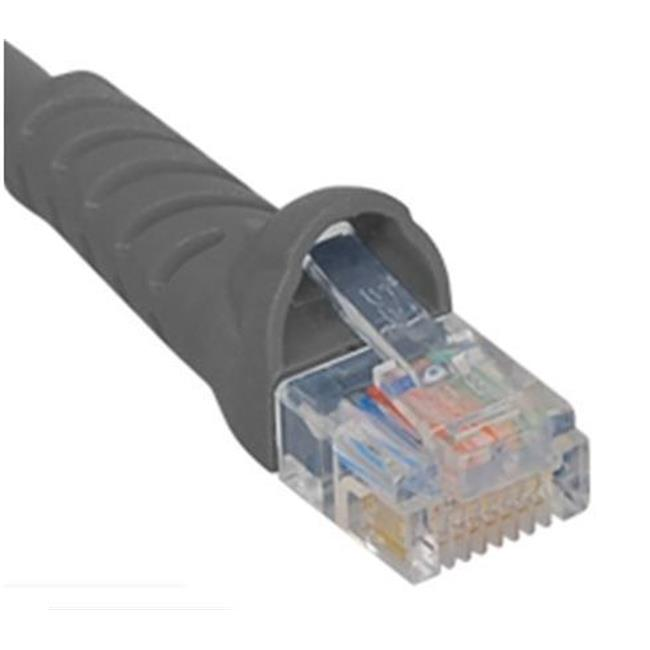 ICC ICPCSK07GY 7 ft. Ultra Slim Line Molded Boot Category 6 Patch Cord, Gray