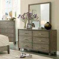 Enrico I Contemporary Style Dresser, Gray