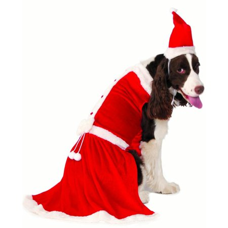 Doc Holiday Costumes (Mrs Santa Claus Big Dog Pet Christmas Holiday)