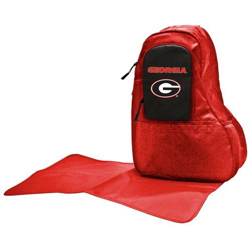 NCAA Diaper Bag by Lil Fan, Sling Style - Georgia Bulldogs