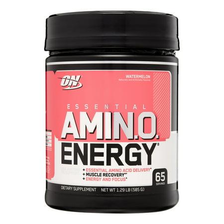 Optimum Nutrition Amino Energy Pre Workout + Essential Amino Acids Powder, Watermelon, 65