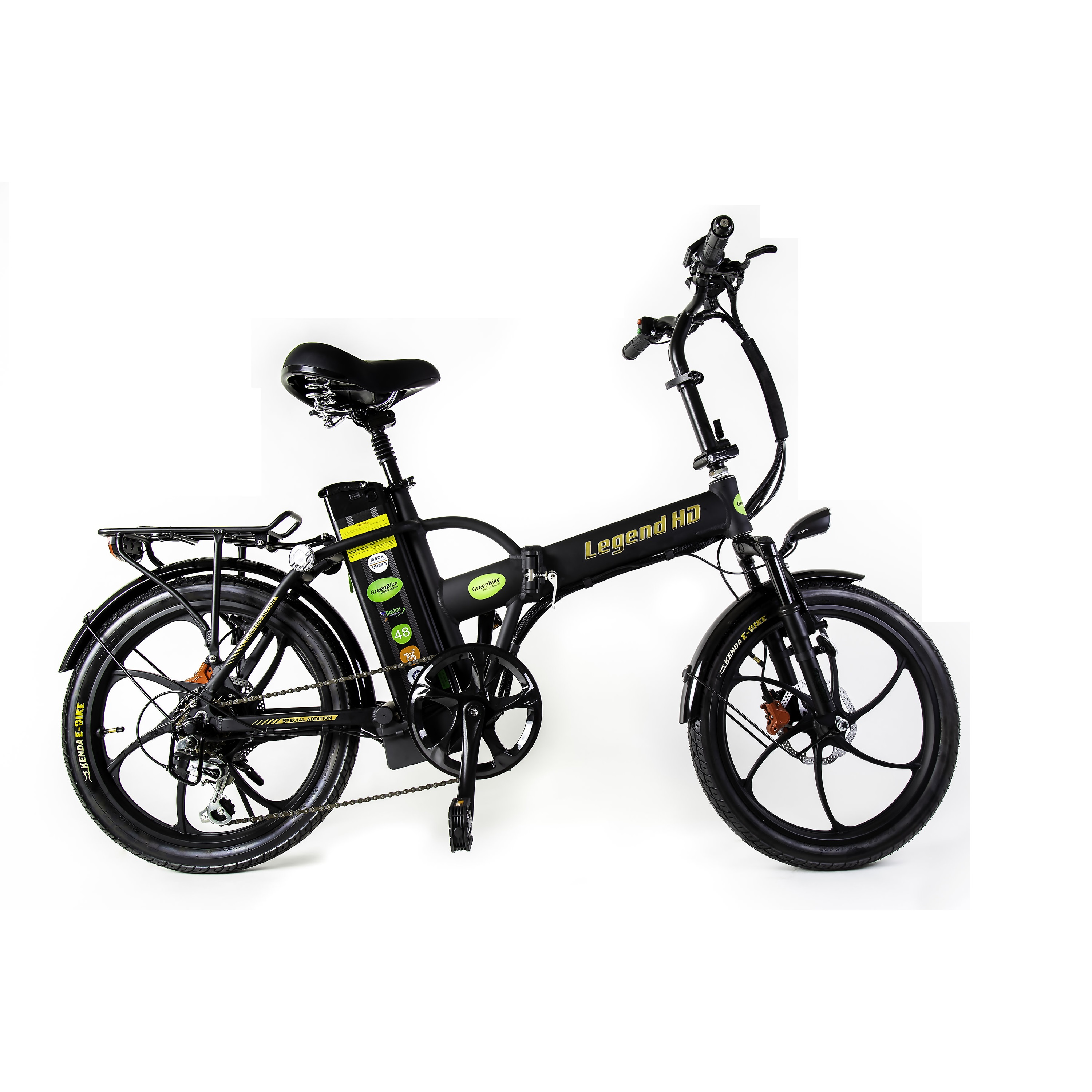Green Bike Electric Motion Legend Hd Motorized Foldable Bike