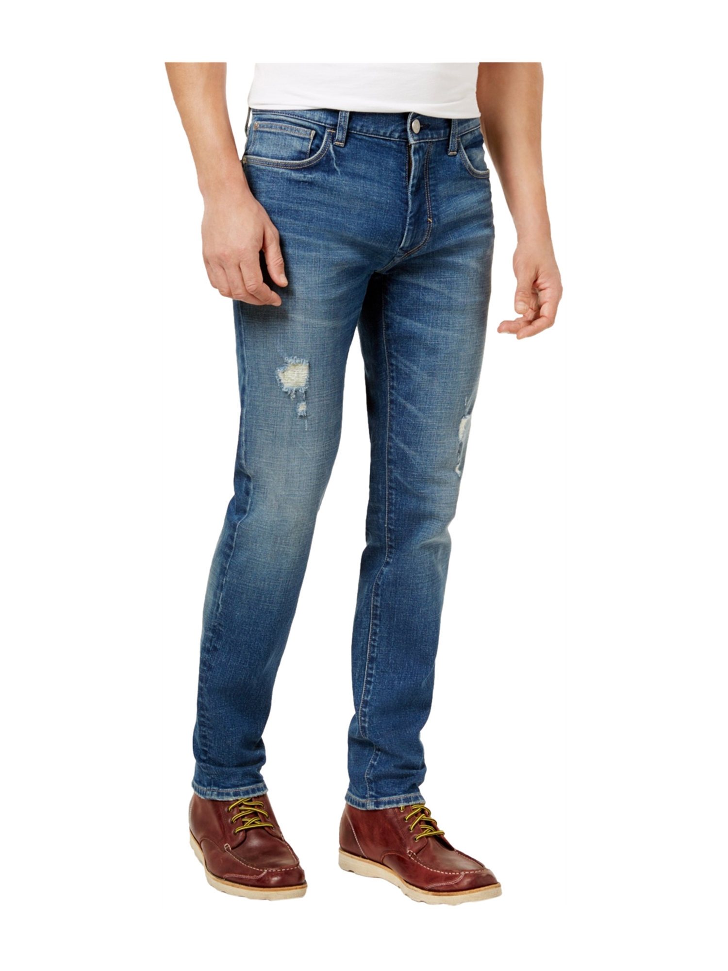 cac5f182ce68 Tommy Hilfiger Mens Distressed Slim Fit Jeans 479 33x32