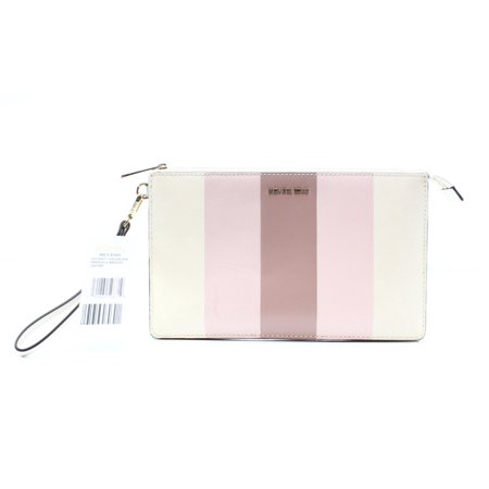 9b968762e899 Michael Kors - Michael Kors NEW Pink Striped Daniela Leather Clutch Handbag  Purse - Walmart.com