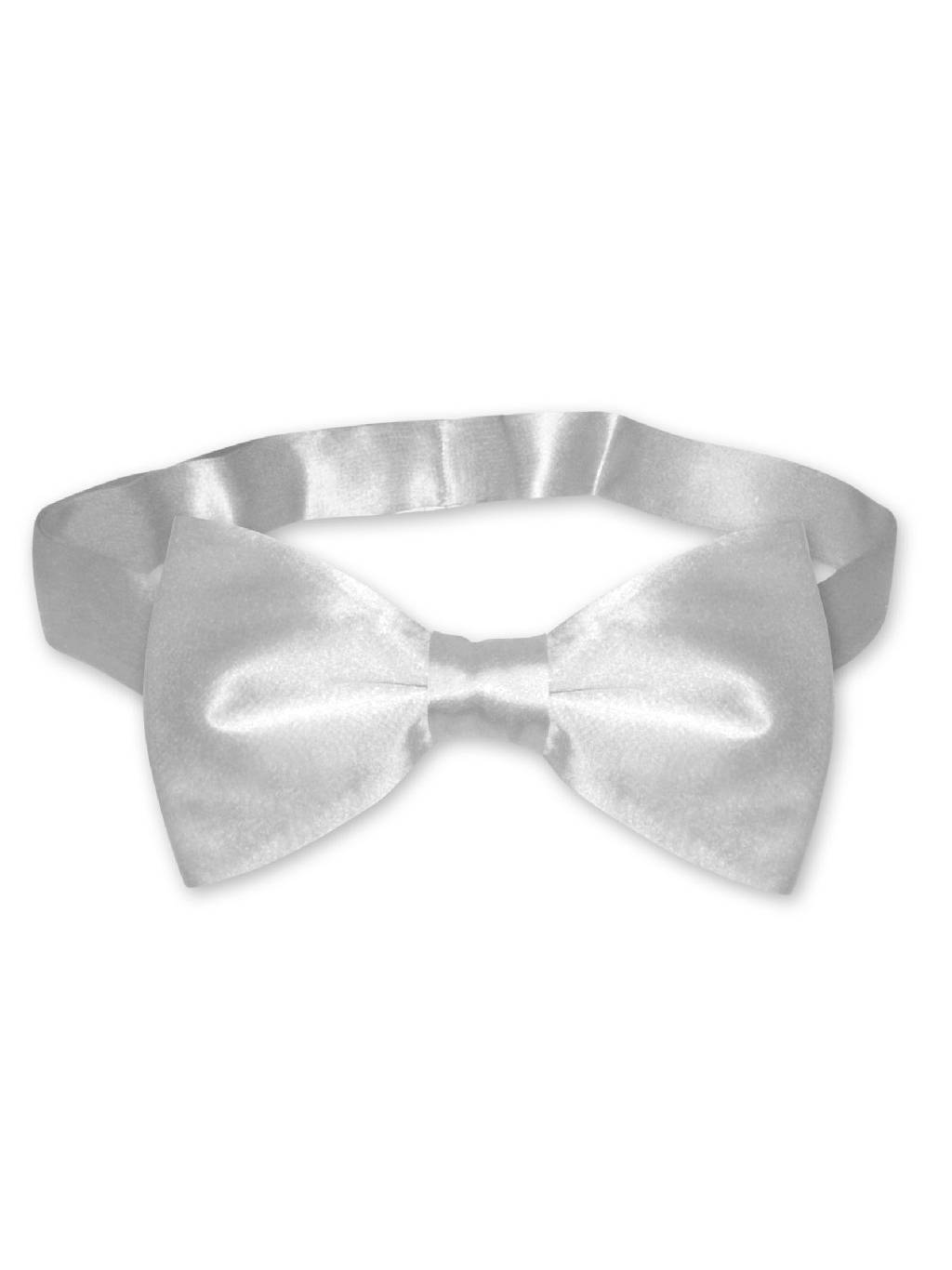 BIAGIO 100/% SILK BOWTIE Solid OFF-WHITE IVORY Color Mens Bow Tie for Tux Suit