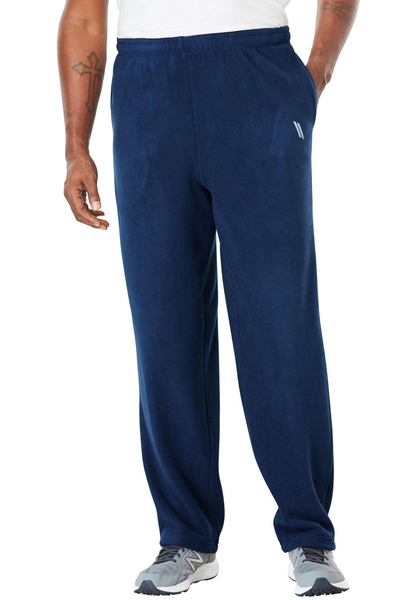 Ks Sport Men's Big & Tall Open Bottom Fleece Tech Pants