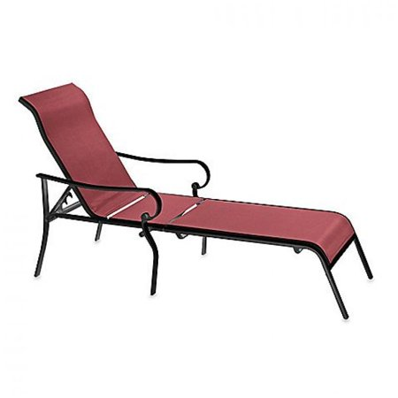 Indoor Outdoor Oversized Adjustable Sling Chaise Reclining Patio Lounge Cha