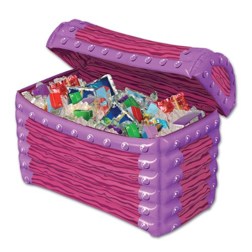 "Beistle Inflatable Princess Treasure Chest Cooler 24""W x 17""H"