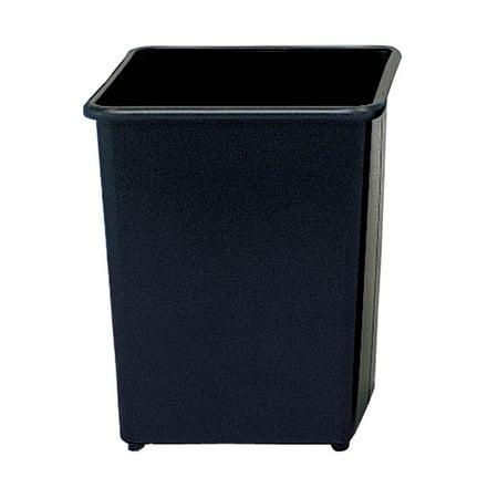 - Square Wastebasket in Black - Set of 3