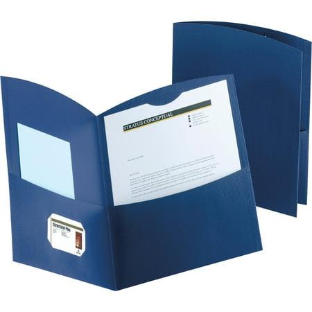 Contour Pocket - Oxford, OXF5062523, Contour Two Pocket Folders, 25 / Box, Dark Blue