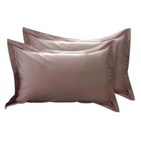 Pillow Shams Egyptian Cotton 300 TC Coffee Color  20 x 30 Inch Set of 2
