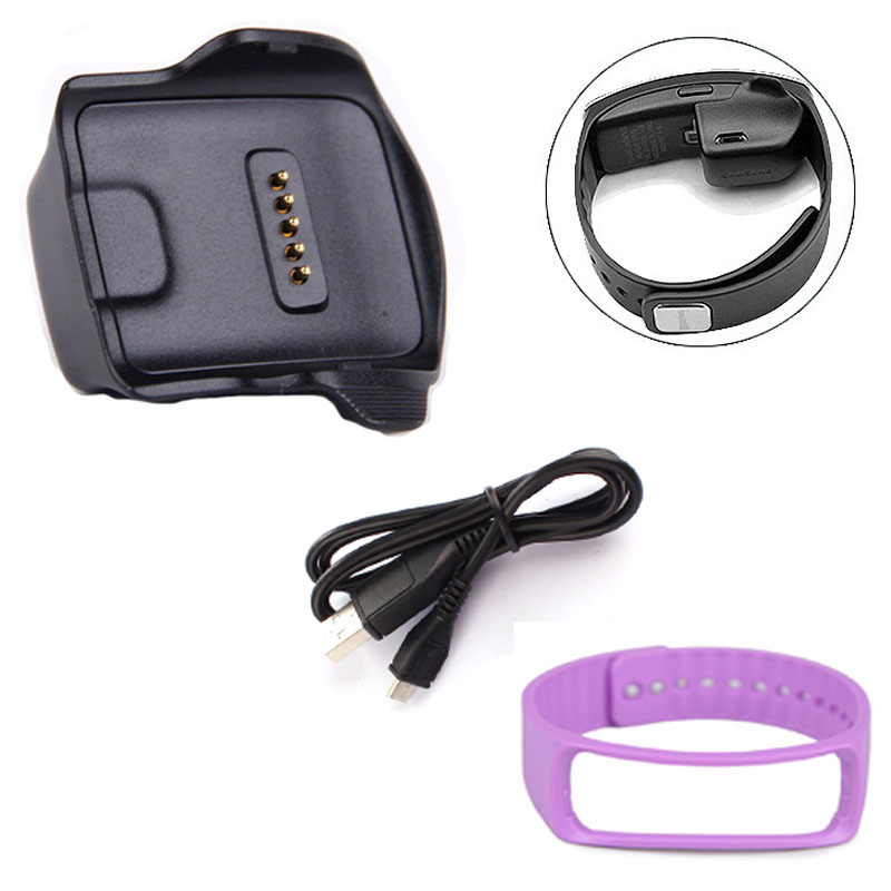 DZT1968 Charge Dock for Samsung Galaxy Gear Fit R350 Watch +Cable+Wrist Strap