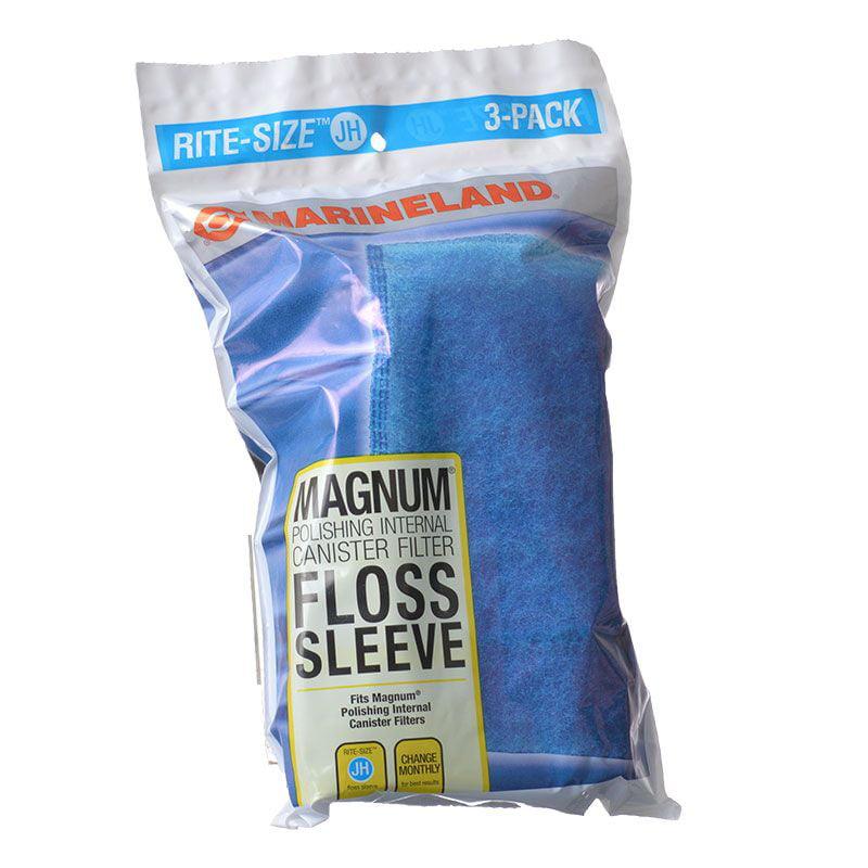 Marineland Magnum Internal Polishing Filter Floss Sleeve Rite-Size JH Floss Sleeve - 3 Pack - Pack of 2