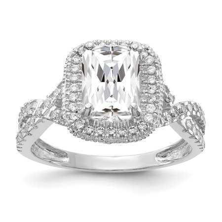 10k White Gold Cubic Zirconia Cz Band Ring Size 7.00 Fine Jewelry Gifts For Women For Her - image 9 of 9