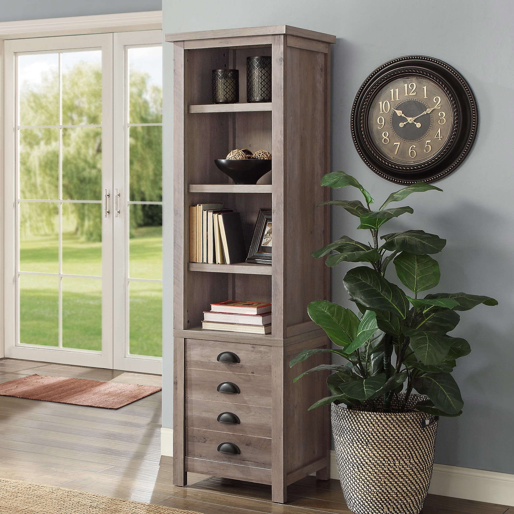 "Better Homes and Gardens Granary Modern Farmhouse 72"" Tower Bookcase, Multiple Finishes"