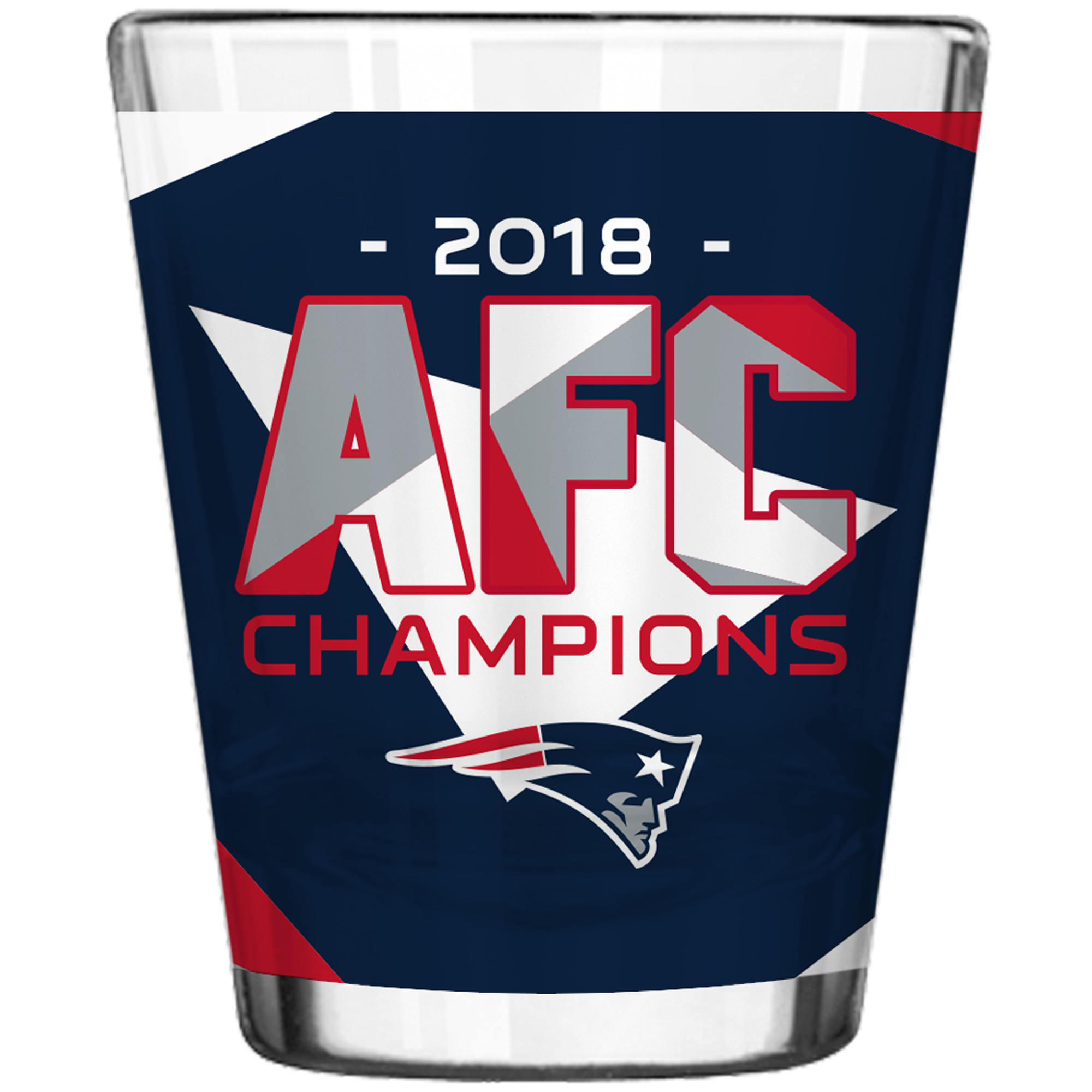 New England Patriots 2018 AFC Champions 2oz. Sublimated Shot Glass - No Size