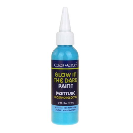 Glow in the Dark Luminescence Paint, 60mL, Blue