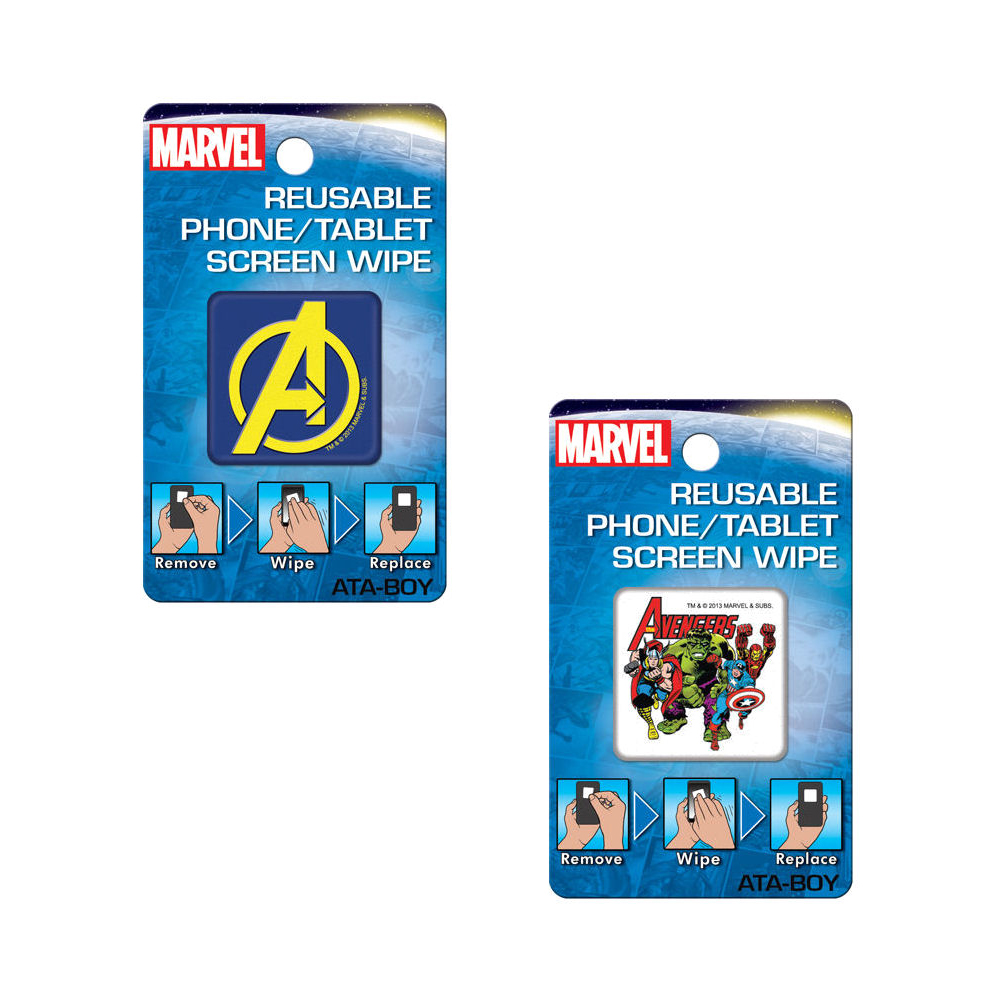 Bundle - 2 Items: Avengers Reusable Phone/Tablet Screen Wipes