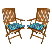 Blazing Needles Outdoor Folding Chair Cushion - 17.5 x 15 in. - Set of 2