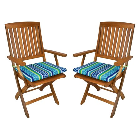 Blazing Needles Outdoor Folding Chair Cushion - 17.5 x 15 in. - Set of 2 ()