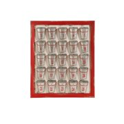 "24"" Red and Gray Weathered Bucket Christmas Advent Calendar"