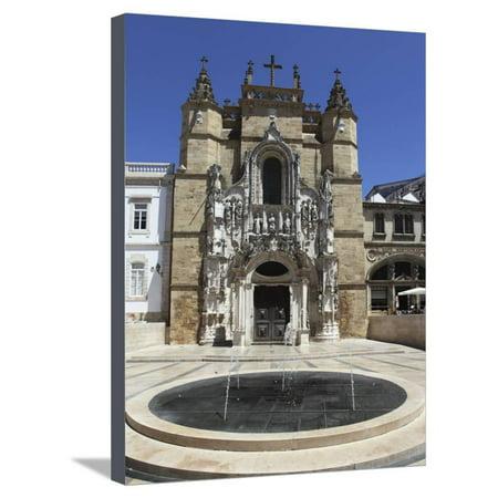 The Santa Cruz Church, with Manueline Facade, on the Praca 8 De Maio Square, Coimbra, Beira Litoral Stretched Canvas Print Wall Art By Stuart