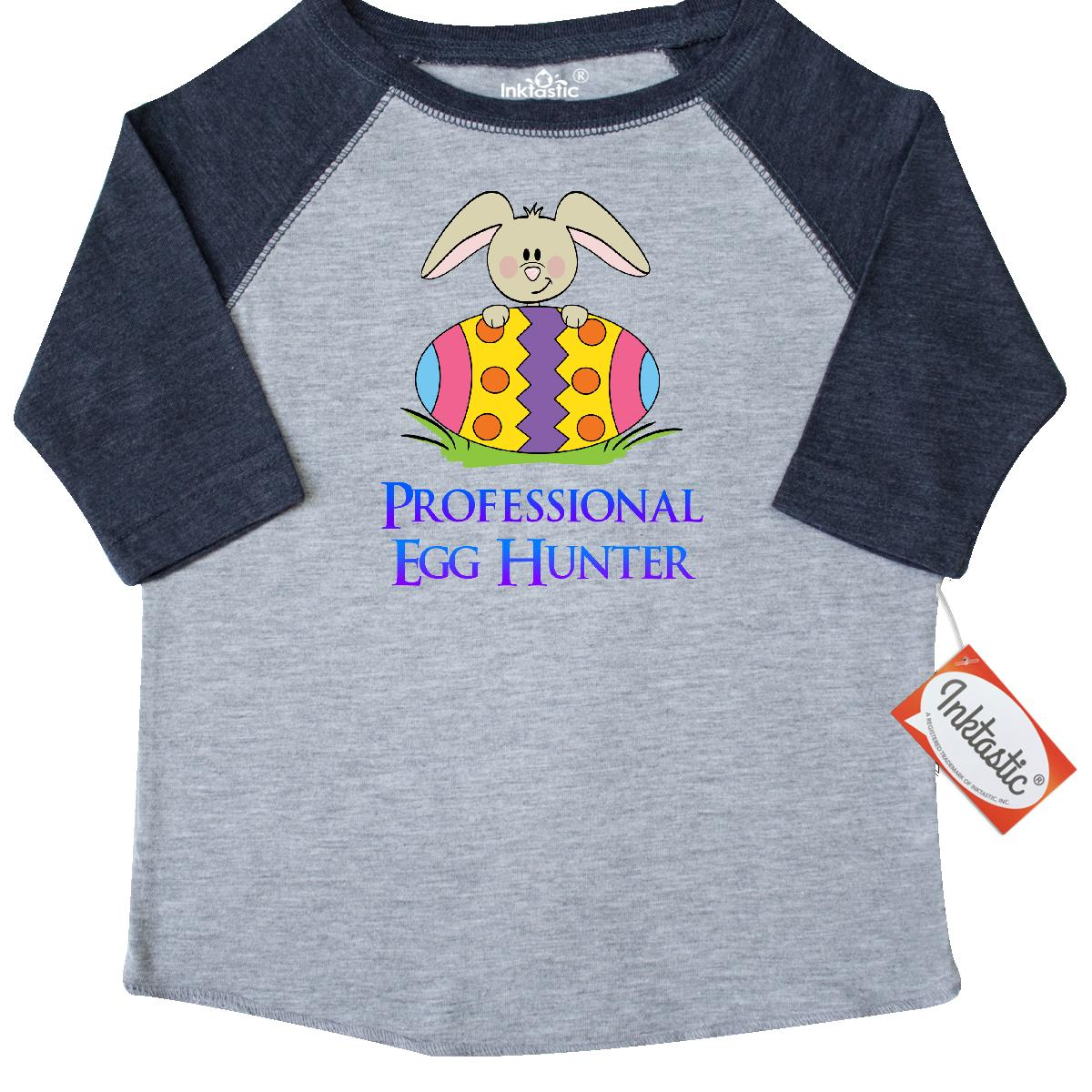 Inktastic Professional Egg Hunter-Bunny Toddler T-Shirt easter bunny hunter tees. gift child preschooler kid clothing apparel