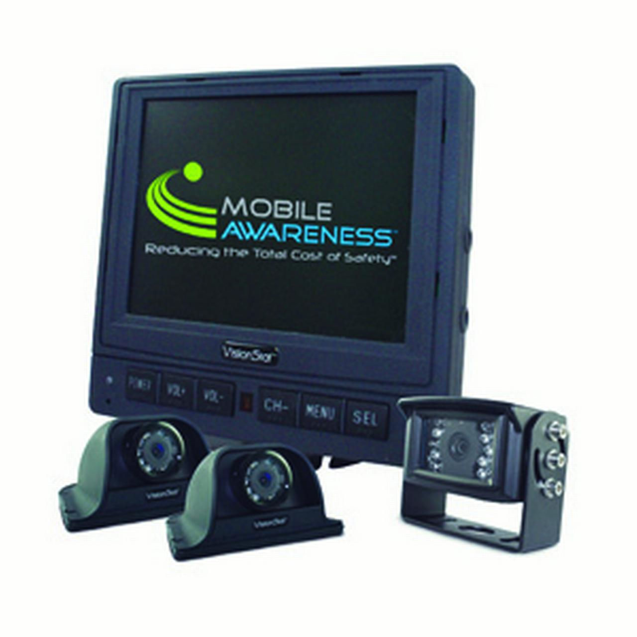 """Mobile Awareness MA-1125 Triple Camera 5.6"""" VisionStat Backup Camera System"""