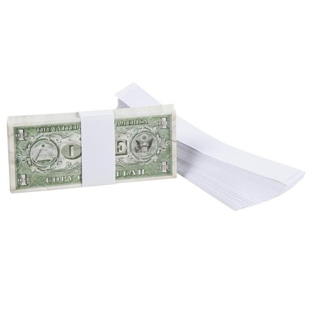 Juvale 300-Pack Blank White Paper Currency Money Band Straps, No Denomination Bill Wrappers, 7.8 x 1.2 Inches 100 Currency Strap