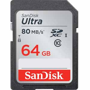 SanDisk 64GB UHS-I Class 10 Ultra SDXC Memory Card