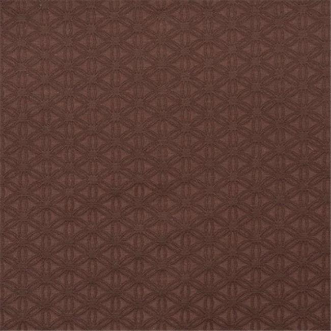 Designer Fabrics E528 54 in. Wide Brown, Flower Jacquard Woven Upholstery Grade Fabric