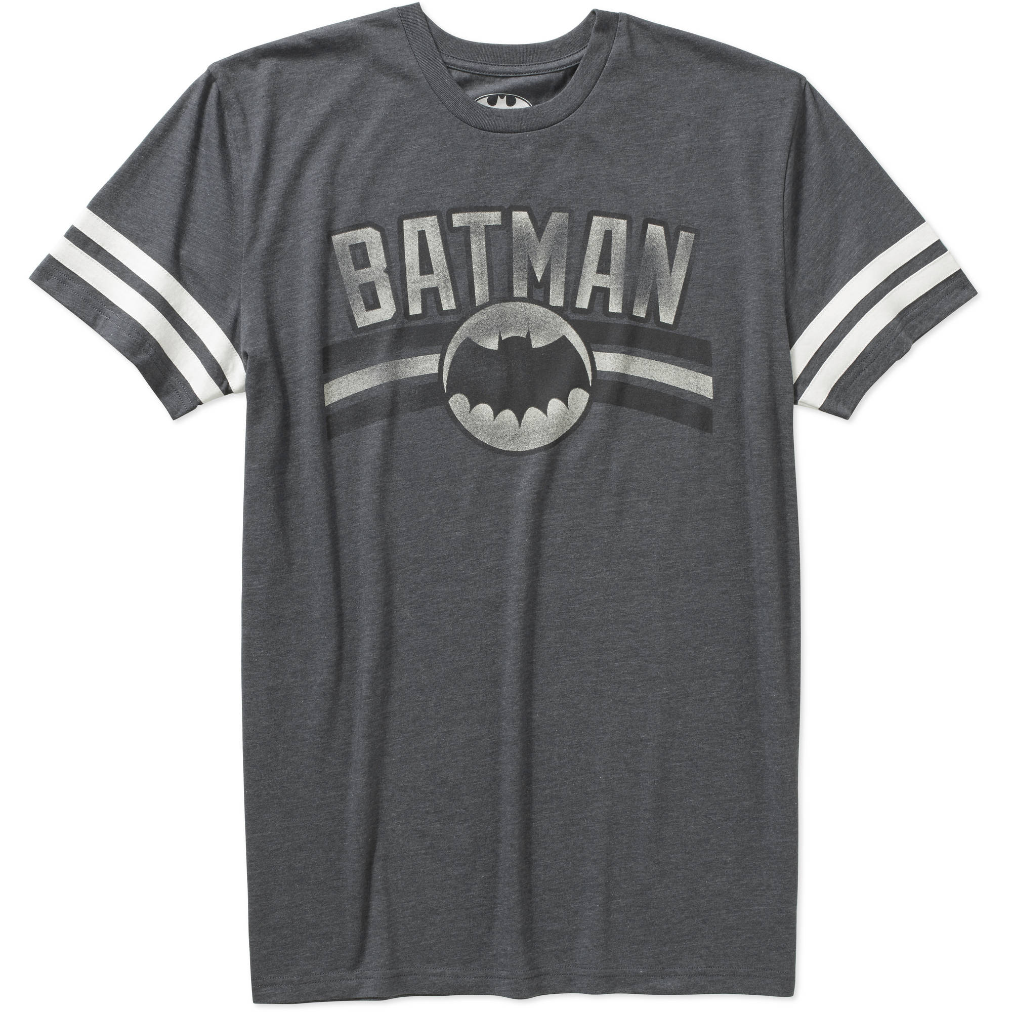 Batman Logo Men's Knit Ringer Sleeve Men's Graphic Tee