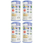 Intex Type A Easy Set Above Ground Pool Replacement Filter Cartridge (4 Pack)