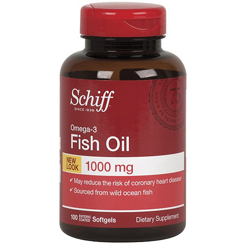 Schiff Omega-3 Fish Oil Supplement, 1000 mg, 100 Count