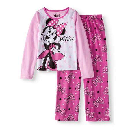 Disney Minnie Mouse Girls 2-Piece Pajamas