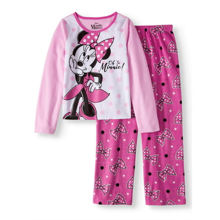 Minnie Mouse 2 Piece Pajama Sleep Set(Big Girl & Little Girl) (Girls Pajamas Size 16)