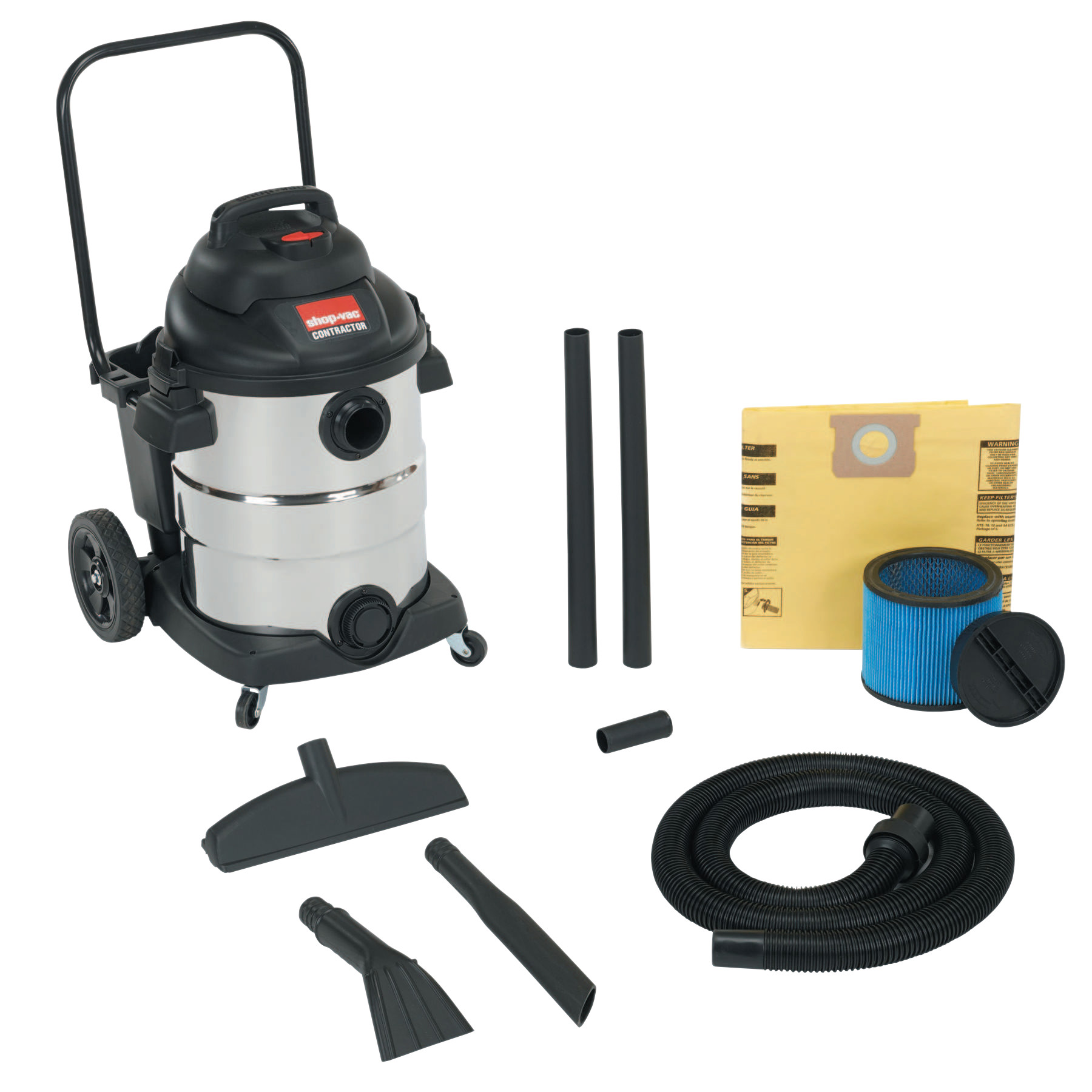 Shop-Vac Carted Contractor Wet/Dry Vacuums, 10 gal