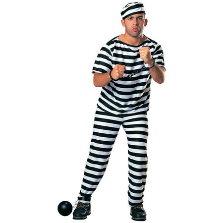 Prisoner - Adult Costume - Girls Prisoner Costume