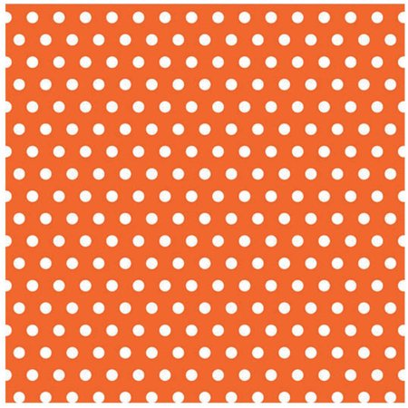 Orange with Polka Dots Jumbo Gift Wrap